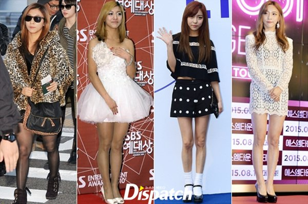 Before and after photos highlight f(x)'s Luna's trimmed figure