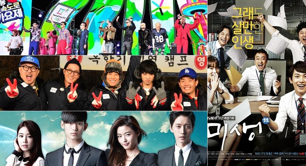 MBC, KBS2, SBS, tvN