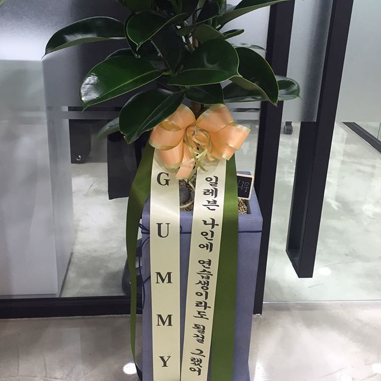 Wreaths from former YGE artist Gummy Photo: Instagram / @se7enofficial