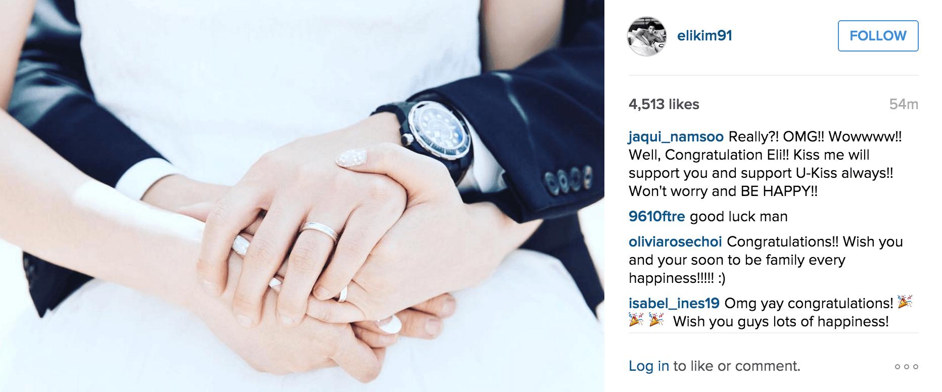 Image: Eli's Instagram