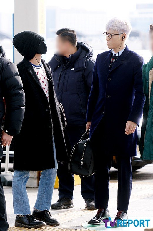 Dragon and T.O.P turn heads with their interesting airport fashion ...