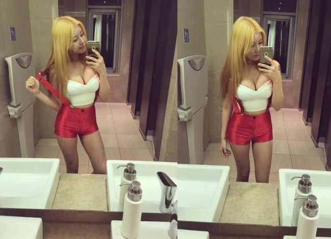 Soyoon Of Pocket Girls Takes A Sexy Selfie Of New Outfit In Bathroom  Koreaboo-6329