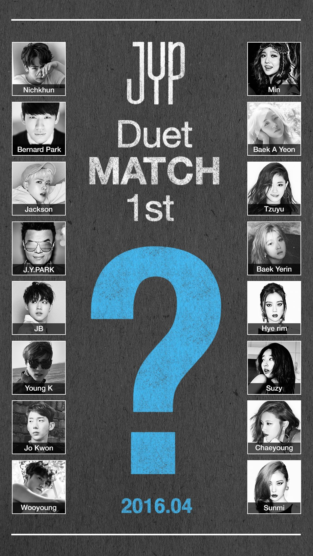 Image: JYP Entertainment Duet Match teaser poster / JYP Entertainment
