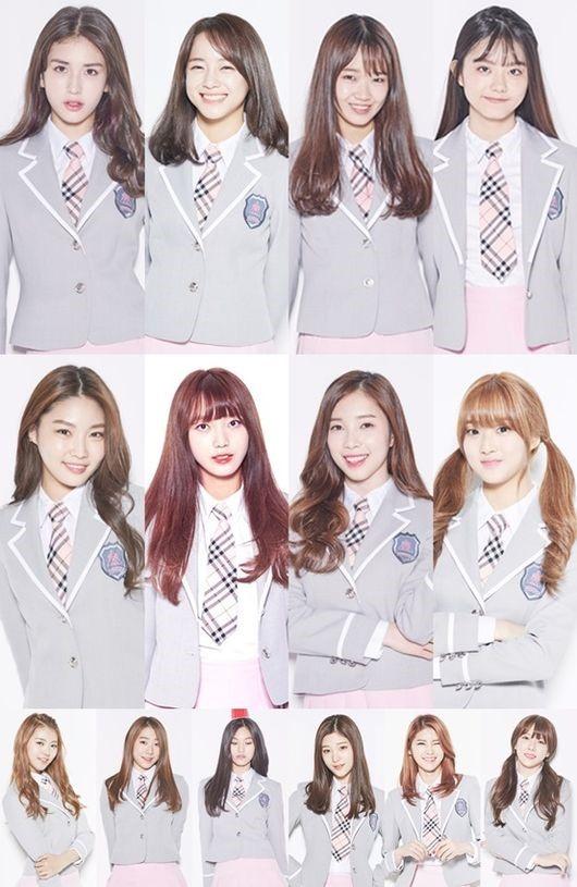 Image: 'Produce 101' contestants / Mnet