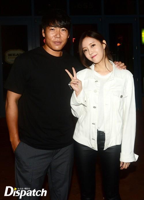 Image: Kang Jung Ho and T-ARA's Hyomin / Dispatch