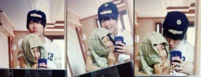 Image: SEVENTEEN Wonwoo and his brother Bohyuk / Instiz
