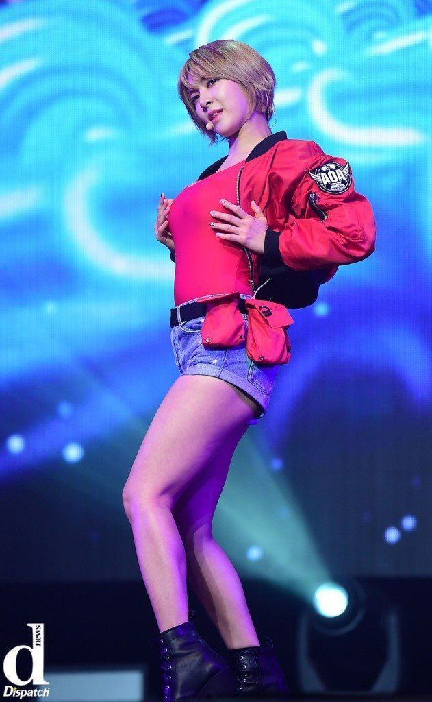 "Image: AOA Choa during ""Good Luck"" showcase / Dispatch"