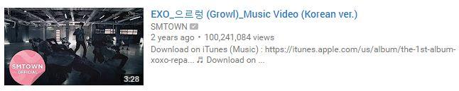 """Image: EXO """"Growl"""" MV / YouTube"""