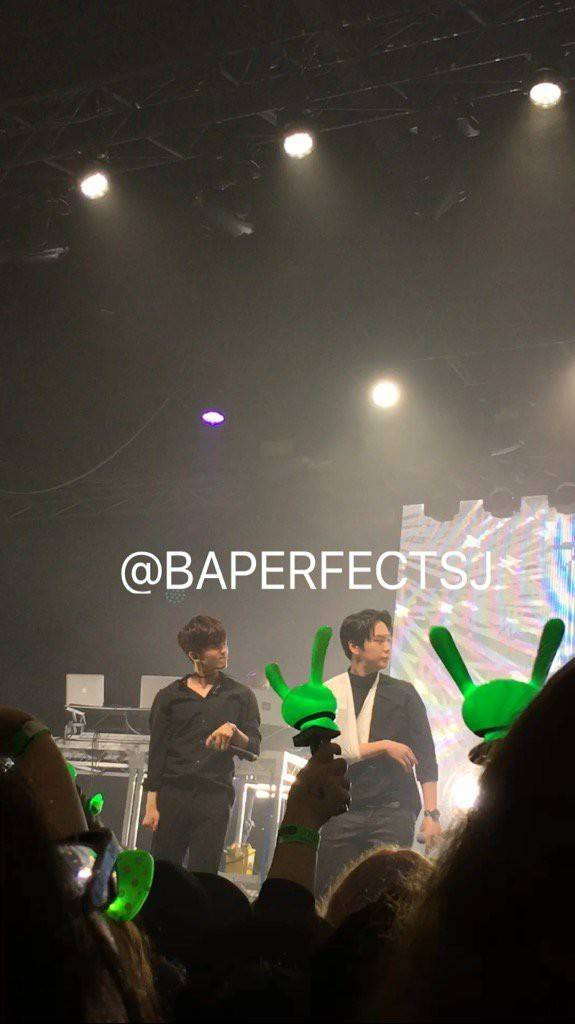 Image: Himchan at Melbourne concert. (Credit as tagged)