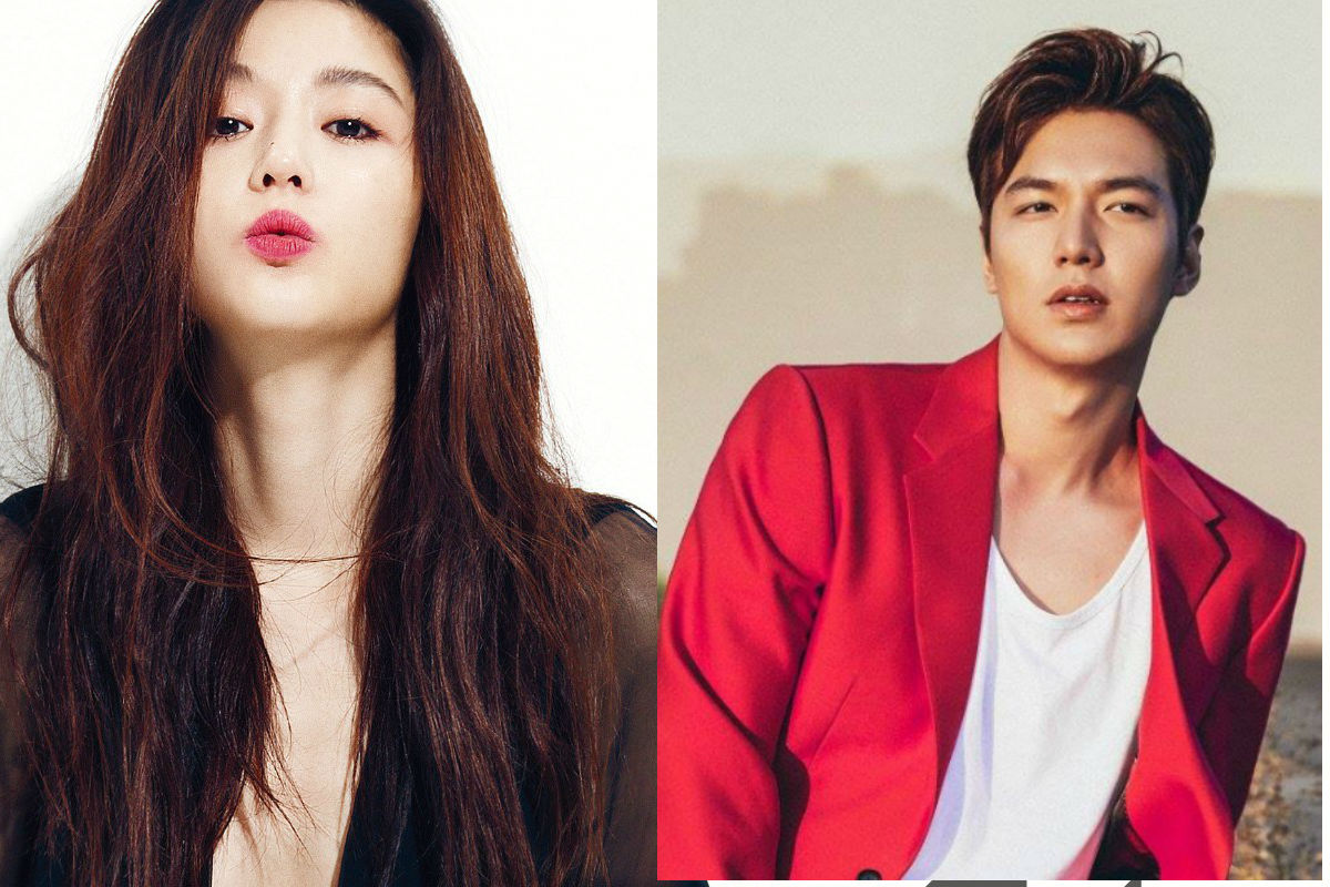 "Image: Jun JI Hyun for ""1st Look"" (left) / Lee Min Ho's Facebook (right)"