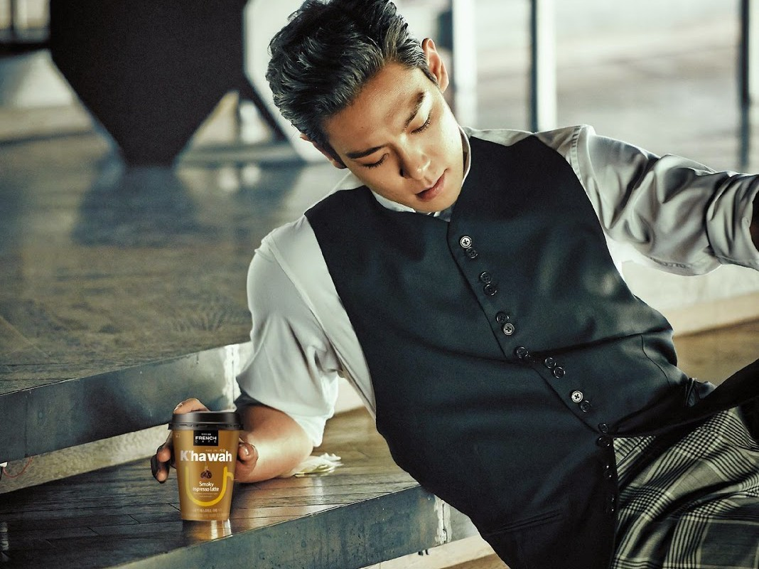 Image: T.O.P as the model for Khawah French Cafe