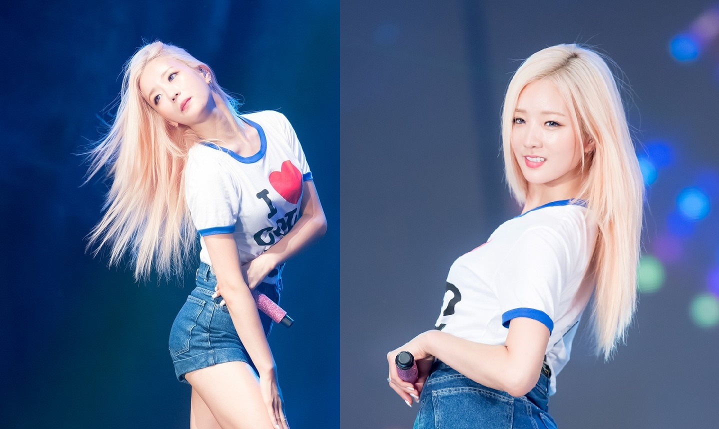 Apink Bomi S Blonde Hair And Blue Eyes Looks Simply