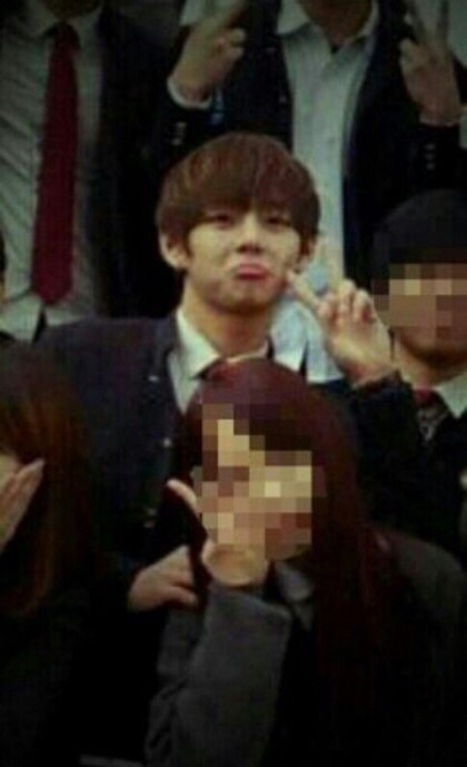 BTS Fans Claim V Was Even Better Looking In High School