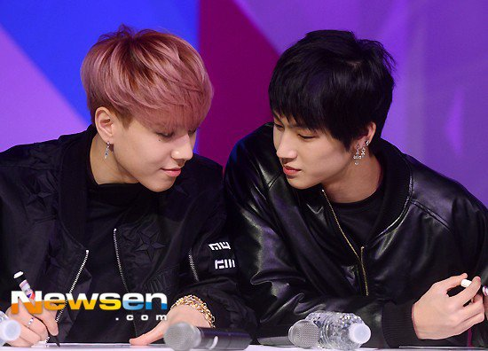 Image: GOT7's Yugyeom and JB / Newsen