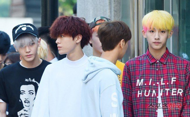 "Image: NCT127 making their way to ""Music Bank"" on July 15, 2016 / Sports Hankooki"