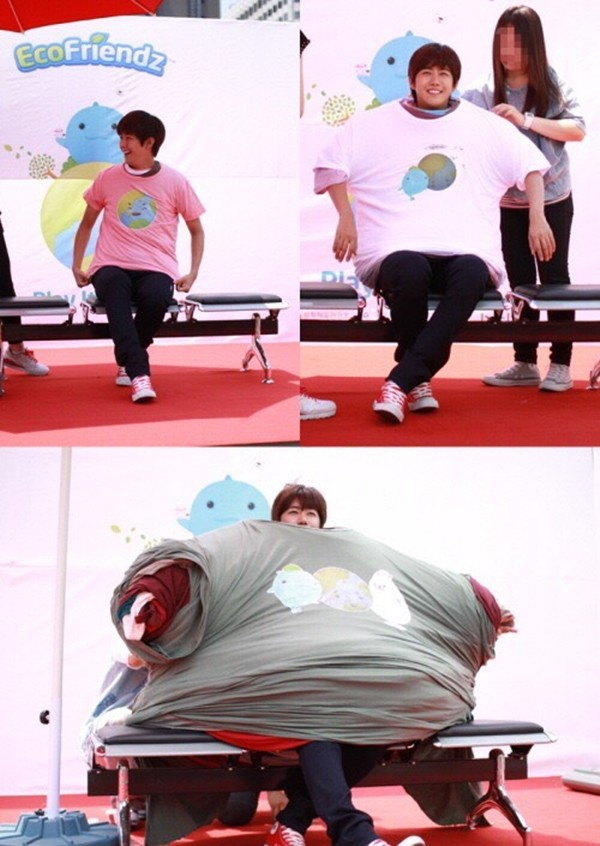 ZE:A's Kwanghee - most t-shirts worn record 252 - guinness book of world records - Dispatch - http://www.dispatch.co.kr/556535