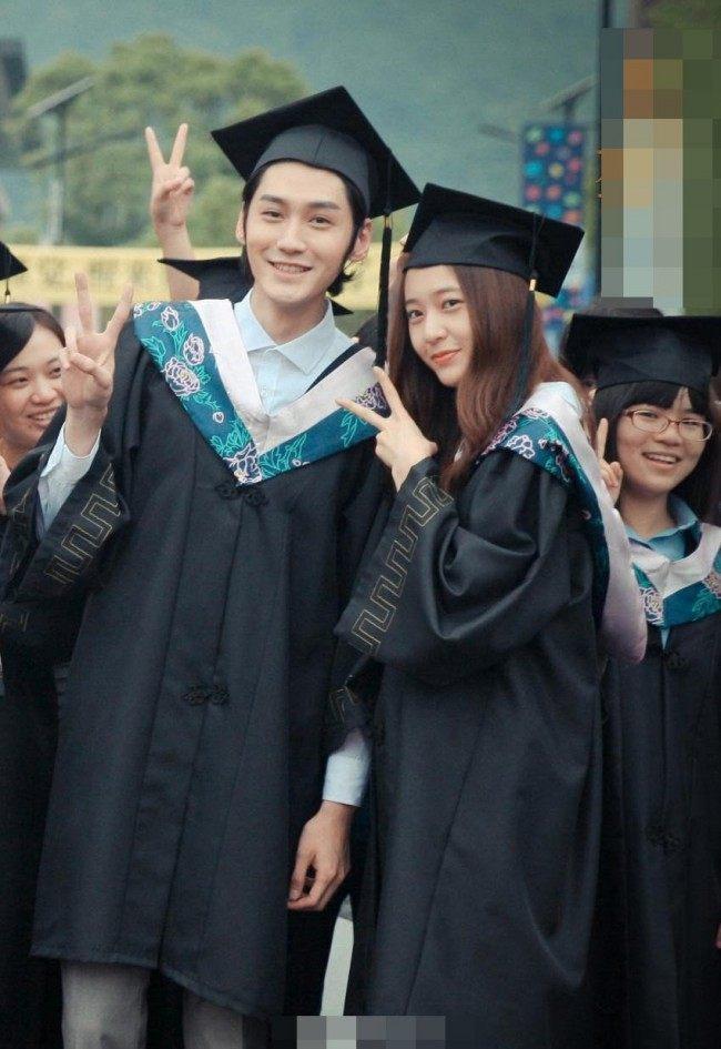 "Image: Krystal smiling alongside one of the cast members for ""Graduation Season"""