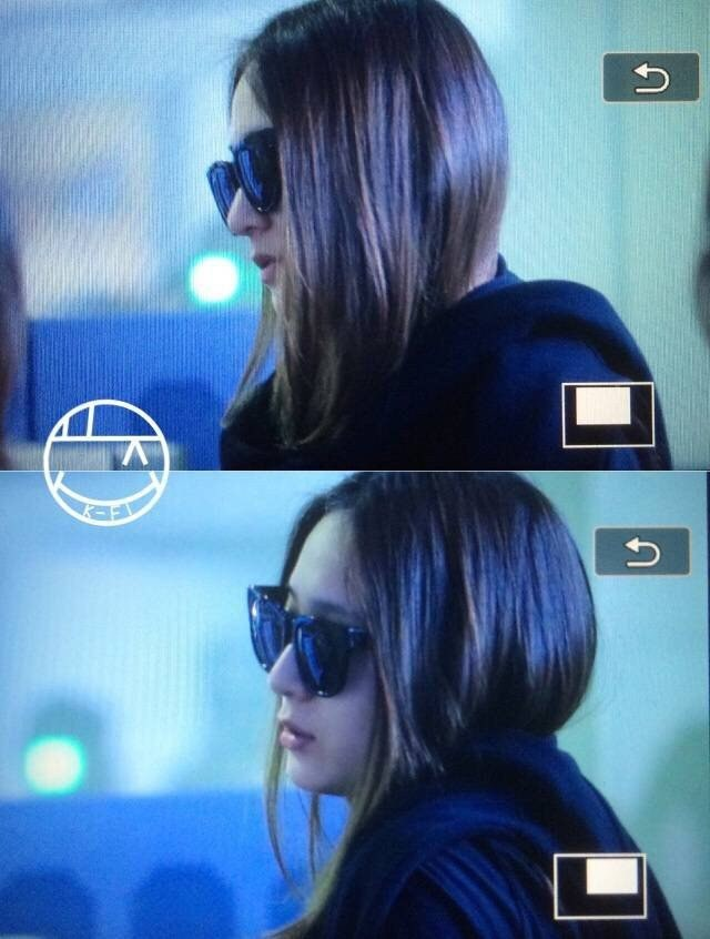 Image: A tired Krystal as she walks through the airport from her busy schedule