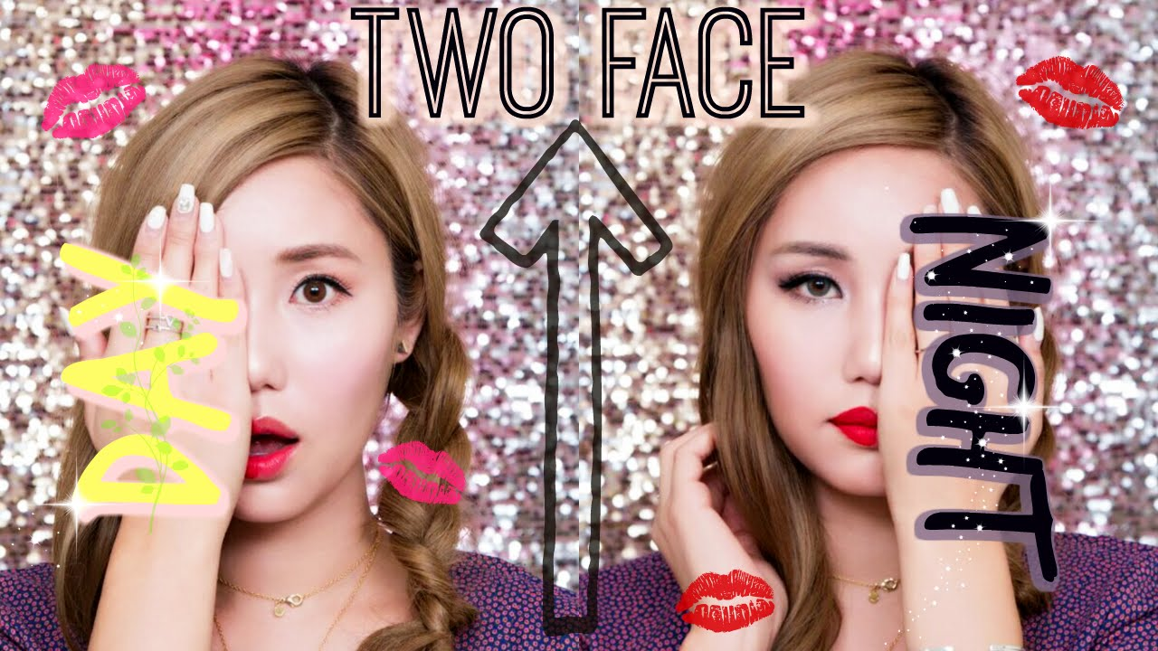 "Image: Kryskhloe for ""DAY AND NIGHT ★TWO FACE ★ MAKEUP TUTORIAL [MEMEBOX GIVEAWAY]"""