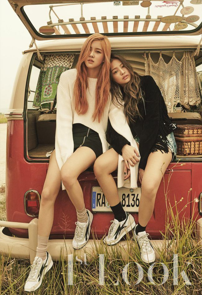 Image: Black Pink's Rose and Jenny for 1st Look x Reebok photo shoot