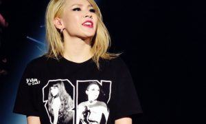 CL keeping it edgy with a short cut.