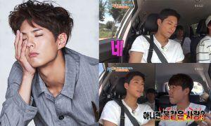 """(Left) Park Bo Gum, ELLE Magazine Korea (Right) KBS """"1 Night, 2 Days"""""""