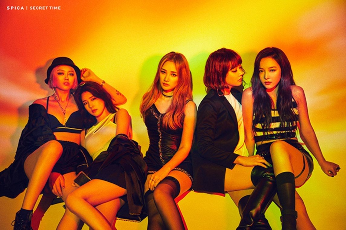 """Image: Group photo of SPICA for their newest single """"Secret Time"""" / B2M Entertainment"""