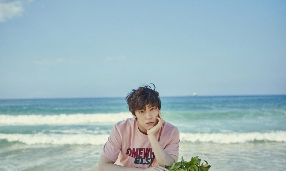Image: John Park at the beach for album jacket / Music Farm Entertainment