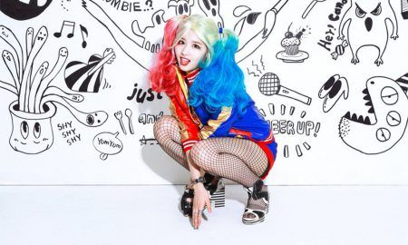 Image: TWICE's Sana as Harley Quinn for V App special broadcast project / JYP Entertainment