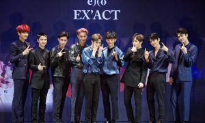 EXO during EX'ACT Press Con
