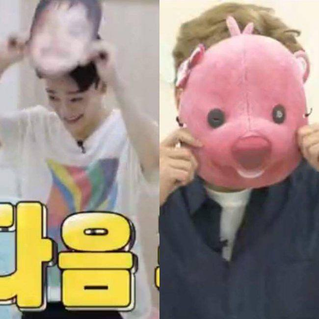 Image: EXO's Chen and Xiumin wearing masks to surprise SoDa Siblings / Viki