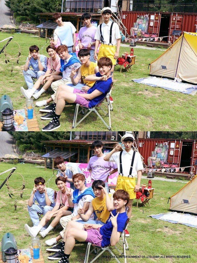 Seven-member boy group Plan A Boys (not yet debuted) with solo artist Huh Gak / Instiz