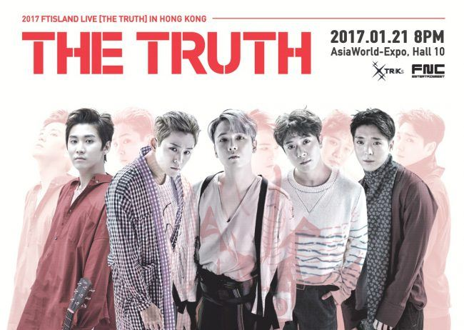 Image: 2017 FTISLAND LIVE [THE TRUTH] IN HONG KONG / FNC Entertainment