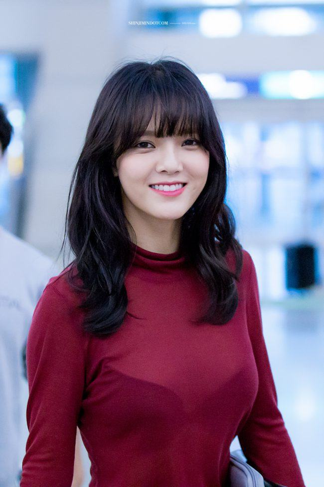 Fans Spot Aoa Jimin Wearing See Through Shirt At Airport