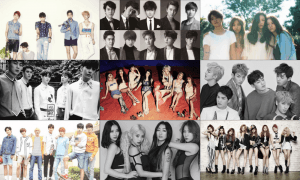 SHINee, Super Junior, f(x), BEAST, Girls' Generation (SNSD), Teen Top, Infinite, Sistar, and After School