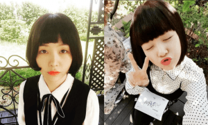 Girl's Day Minah with short black bowl-cut hairstyle for recent SBS drama, Beautiful Gongshim / Instagram