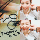 [Left] Autograph of Yeri received by a fan. [Right] Red Velvet's Yeri with pig tails. / Pann