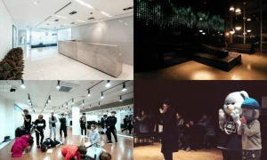 [Left] Photos of SM Entertainment's headquarters, [RIGHT] Photos of YG Entertainment's headquarters / Instiz