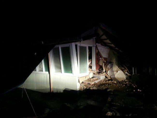Image: Home partially collapsed following September 12, 2016 earthquake / Taken by Korea Times
