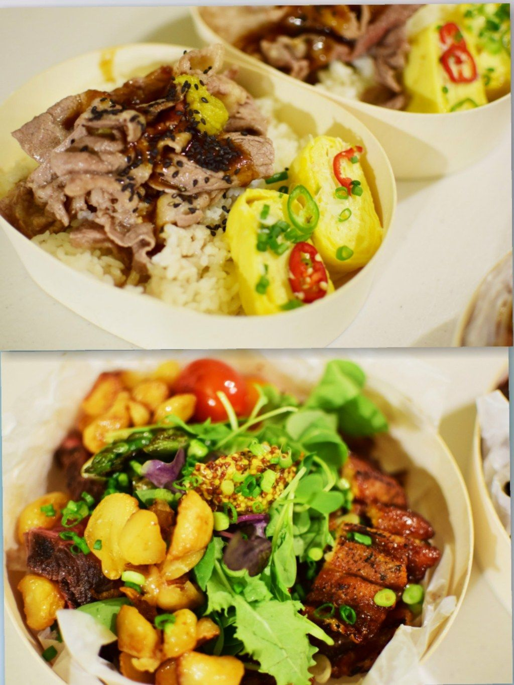 Photos of the support tribute meals ordered and prepared by Mino's fansite for both MOBB rappers. / Pann