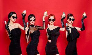 """Image: Dalshabet concept group photo for EP """"FRI.SAT.SUN"""" / Happy Face Entertainment"""