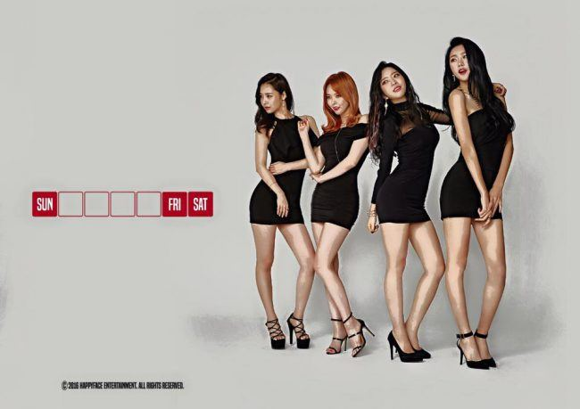 "Image: Dalshabet in mini-skirts for the weekend, concept photos from ""FRI.SAT.SUN"" EP / Happy Face Entertainment"