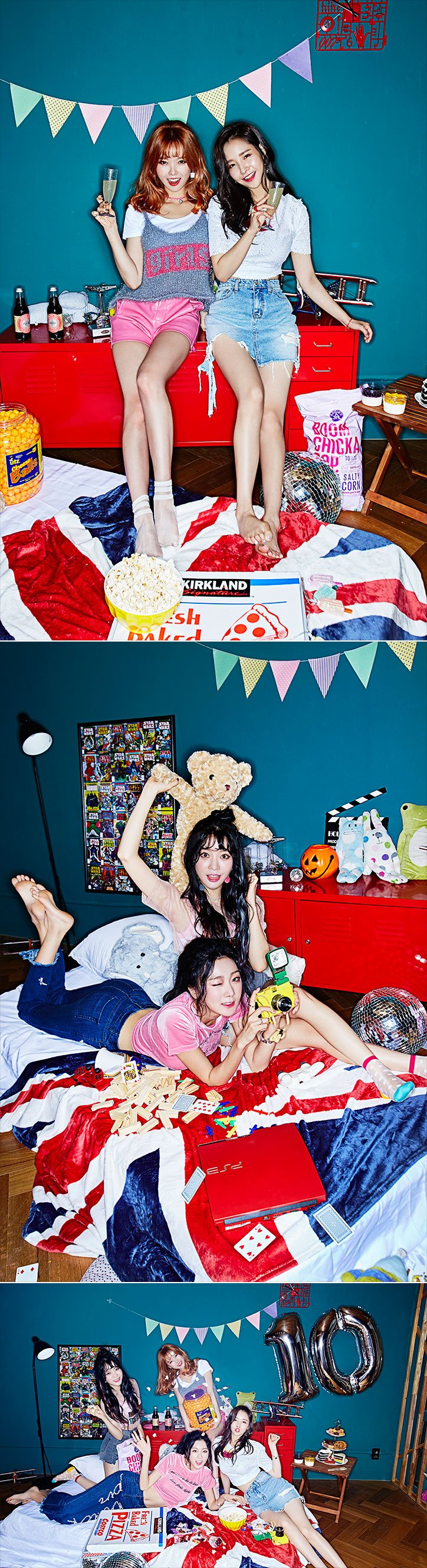 Image: 'Weekend' image teasers for Dalshabet / Happy Face Entertainment