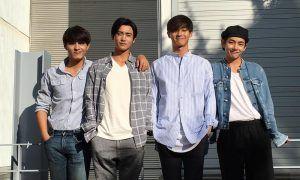 """Image: """"Hwarang"""" actors Do Ji Han, Hyungsik, Park Seo Joon, V"""