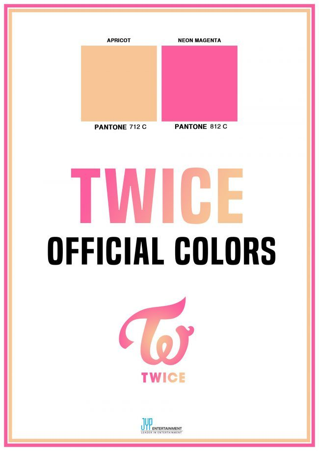 Image: Official colors for girl group TWICE / JYP Entertainment
