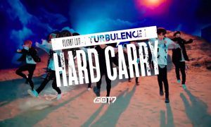 "Image: GOT7 teasing their choreography for ""Hard Carry"" / JYP Entertainment"