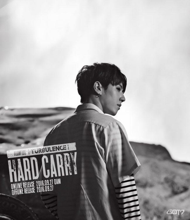 "Image: GOT7 Yugyeom for ""FLIGHT LOG: TURBULENCE"" EP / JYP Entertainment"