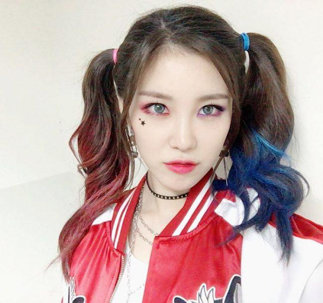Image: Hyosung as Harley Quinn / from her Instagram @secrettimehs