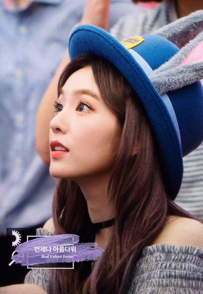 Image: Irene wearing a bunny hat, given to her by a fan