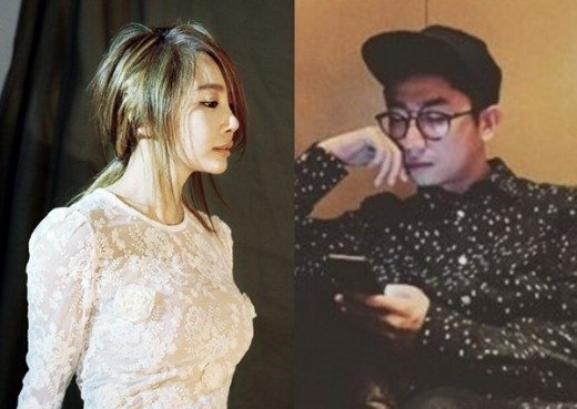 Image: Brown Eyed Girls Jea and YG Entertainment producer P.K. / via TV Report